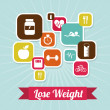 Stock Vector: Lose weight