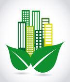 Eco city — Stock Vector
