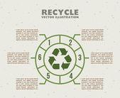 Recycle infographics — ストックベクタ