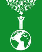 Denke grün — Stockvektor