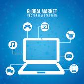 Global marketing — Stock Vector