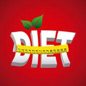 Diet design — Stock Vector