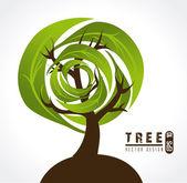 Tree design — Vector de stock