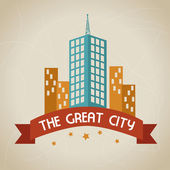 The great city — Stock Vector