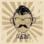 Hipster — Stockvektor