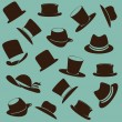 Hats icons — Stock Vector