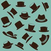 Icônes de chapeaux — Vecteur