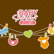 Baby shower — Stock vektor #31744273