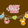 Baby shower — Stock Vector #31744273