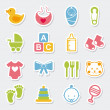 iconos baby — Vector de stock