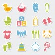 iconos baby — Vector de stock  #31744337