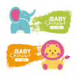 Baby shower — Stock Vector