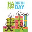Happy birthday design — Stock Vector