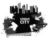 Stadt-etikett — Stockvektor