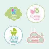 Baby dusch — Stockvektor