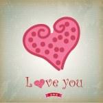 liefde hart — Stockvector