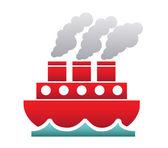 Maritime transport — Stock Vector