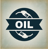 Oil label — Stock Vector