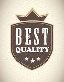 Mejor calidad — Vector de stock