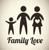 Family love — Stockvektor