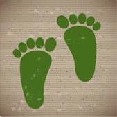 Foots vector — Stock Vector