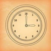 Clock and time icon — Stock Vector