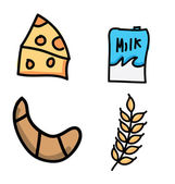 Nutrition icons — Stock Vector