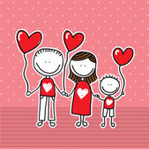 Family love — Stock Vector