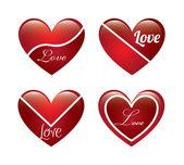 Älska hjärta — Stockvektor