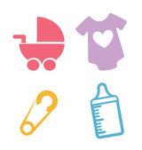 Baby shower — Vettoriale Stock