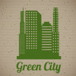 Green eco city — Stock Vector #31847693