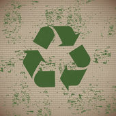 återvinna etikett — Stockvektor