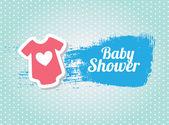 Douche de bébé — Vecteur