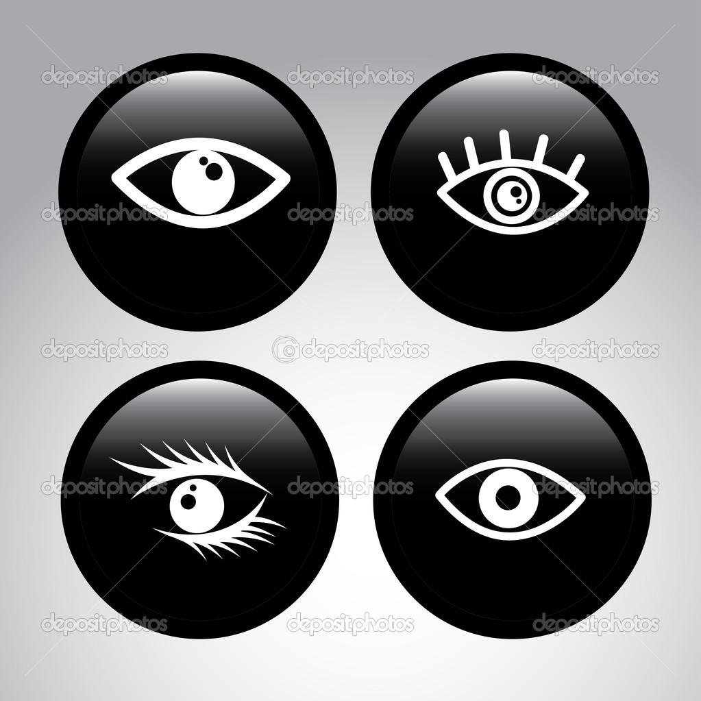 眼睛设计在灰色的背景矢量图