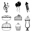 Party icons — Stock Vector #31863305