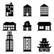 Stock Vector: Buildings icons