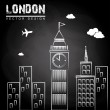London  design — Stockvektor