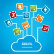 Social network — Vector de stock #31865337