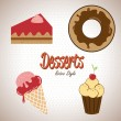Desserts icons — Stock Vector