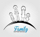 Famili — Stock Vector