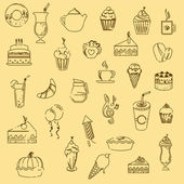 Pastry icons — Stock Vector