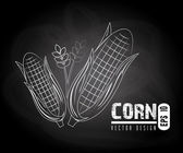 Corn label — Stok Vektör