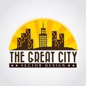 La gran ciudad — Vector de stock