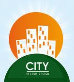 Staden design — Stockvektor