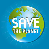 Save the planet — Stock Vector