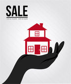 Sale real estate — Stock Vector