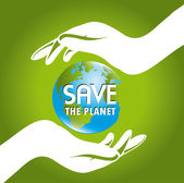 Salvar a terra — Vetorial Stock