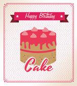 Birthday cake — Vettoriale Stock