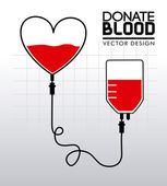Donate blood — Vector de stock