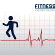 Fitness — Stockvectorbeeld